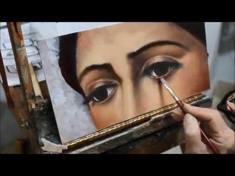 Cómo pintar ojos al oleo - Tutorial - YouTube