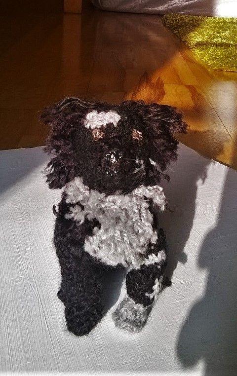 Crocheted dog replica