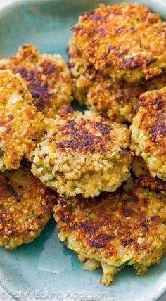 These simple crispy quinoa patties are so versatile! They're a great meatless option that even meat eaters will love.