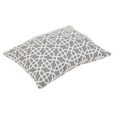 Mozaic Company Sunbrella Outdoor Knife Edge Floor Pillow - Bevel Smoke - HNPS6232