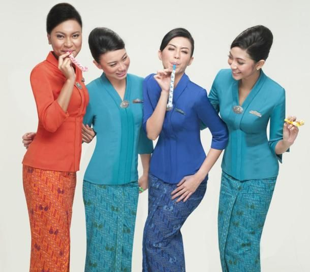 Garuda Indonesia Airlines Flight Attendants