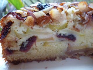 Apple, Cranberry and Almond Cake