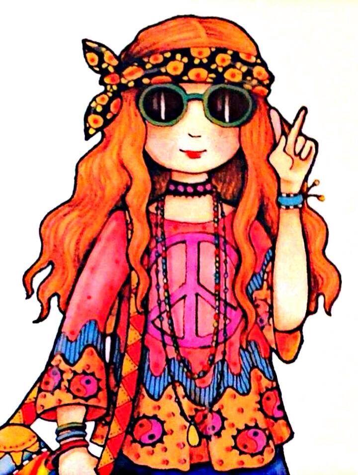 Ms de 25 ideas increbles sobre Dibujo hippie en Pinterest  Arte