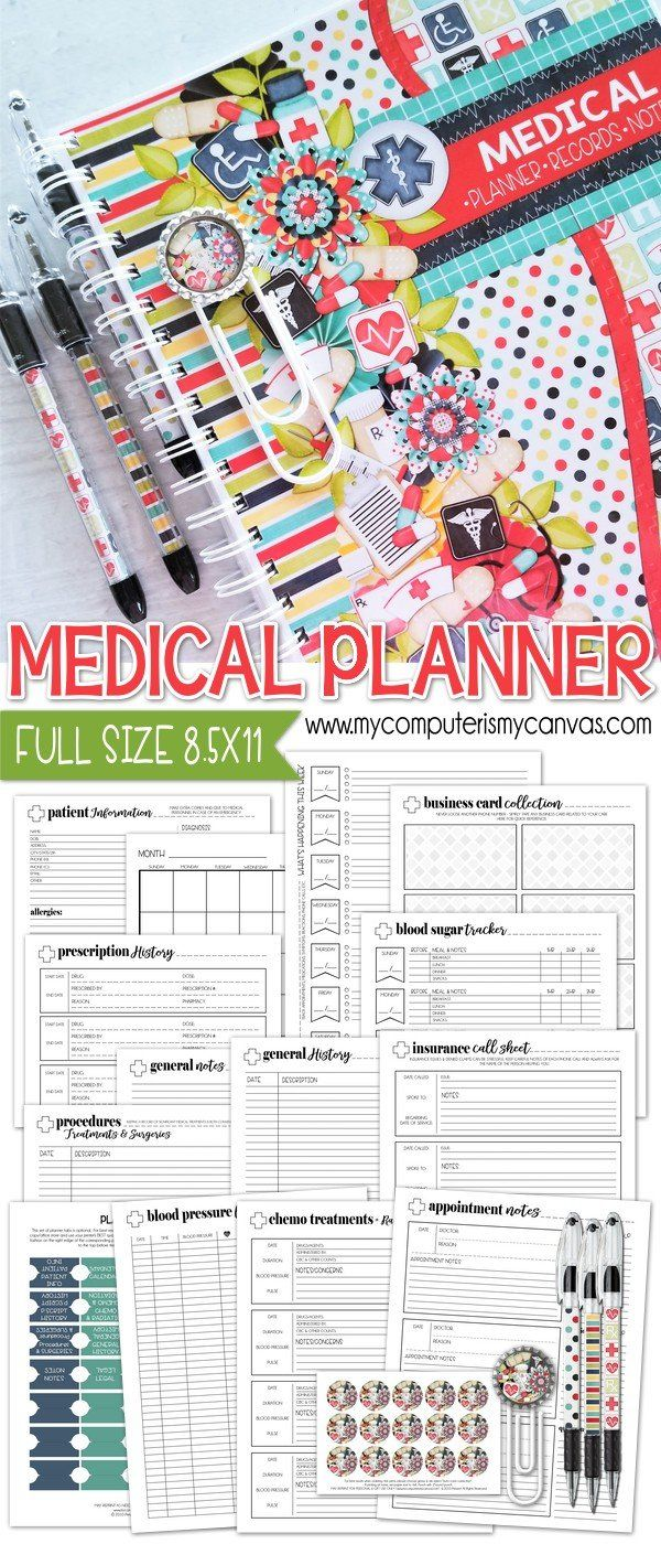 Medical Planner Kit {Full Size 8.5x11} PRINTABLE