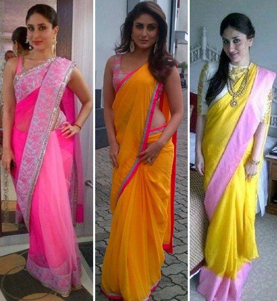 Kareena Kapoor's sari style   PINKVILLA