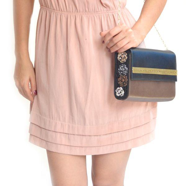 BLUSH (metallic ) - #rachanareddy #bags #clutch #india #wood #handcrafted #woodenclutch #leather #flowerburst #fashion #elegant #nostalgic #summer #statementaccessory #ss14 #campaign #ecofashion #easybreezy #bling #metallic #roses   Shop here: www.rachanareddy.com