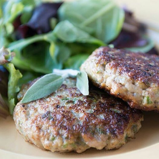 """Chicken Breakfast Sausage.  Ingredients:  apple, onion, omit sage till Phase 6 since untested, sea salt, black pepper, chicken, """"safe"""" oil.  Also could use this recipe and use a clean ground pork instead of the chicken,"""