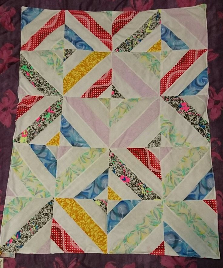 Patchwork design for a weighted quilt,  great for the sensory seeker