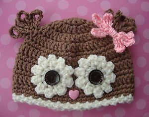 owl hat is really cute