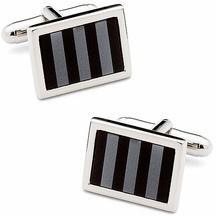 Classici - gemelli da polso bicolor grigio e nero