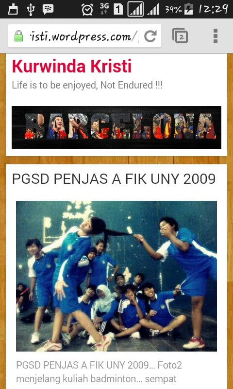 PGSD Penjas A FIK UNY 2009