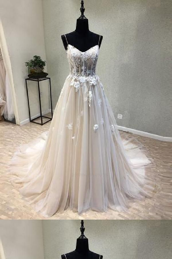 Cheap Nice Lace Beautiful Long Appliques Prom Dresses 2019