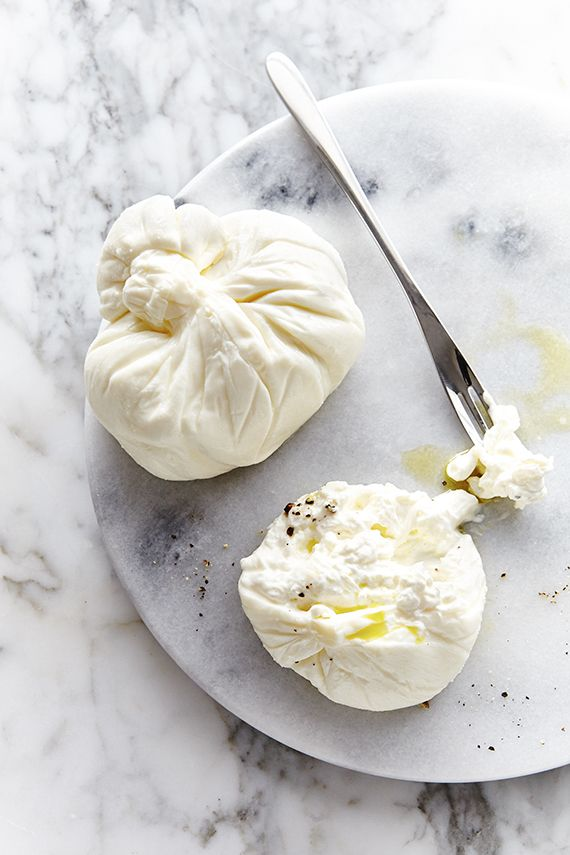 LOW CARB: Burrata - a fresh Italian cheese made from mozzarella and cream.  You make it yourself, and it is DIVINE!