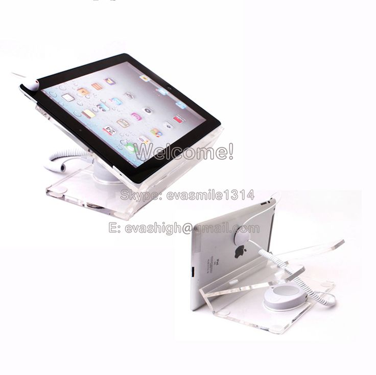 High Quality 10xChargeable Tablet Security Display Ipad Acrylic Stand Burglar Alarm  Retail Loss Prevention Anti Theft Device