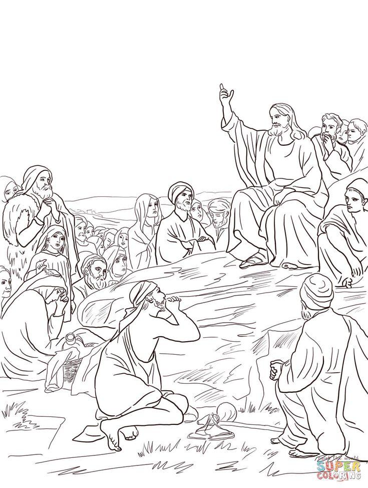 Jesus giving the sermon on the mount (by Carl Bloch) (Matthew 5-7)