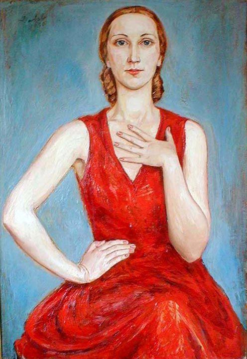 Russian Girl, 1920 by Nils Dardel (Swedish 1888-1943)