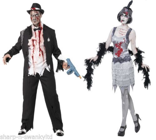 Couples-Fancy-Dress-Zombie-Gangster-AND-Flapper-Halloween-Costumes-Outfits