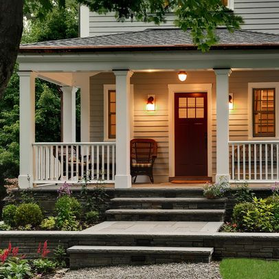 Traditional Exterior front porch Design Ideas, Pictures, Remodel and Decor