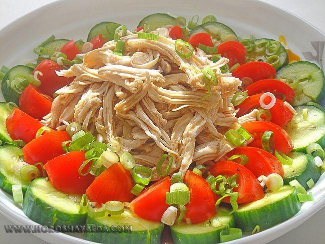 Японский салат с курицей и рисом