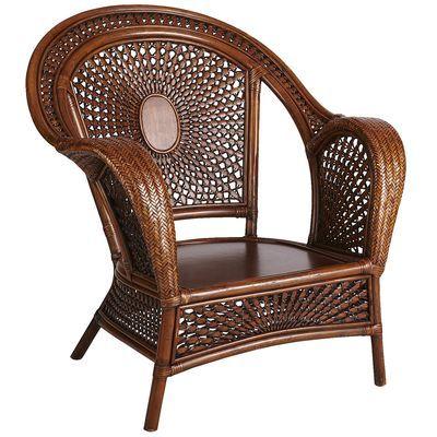 azteca rattan armchair pecan brown home decor