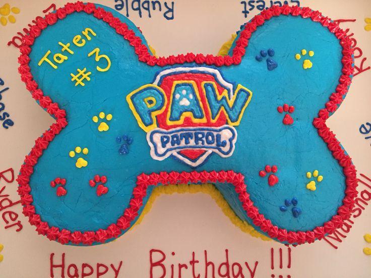 Paw Patrol cake- all buttercream