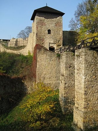 Castle ruins in Lukov, Slovakia. Lukov is a village in Bardejov District in the Prešov Region of north-east Slovakia.