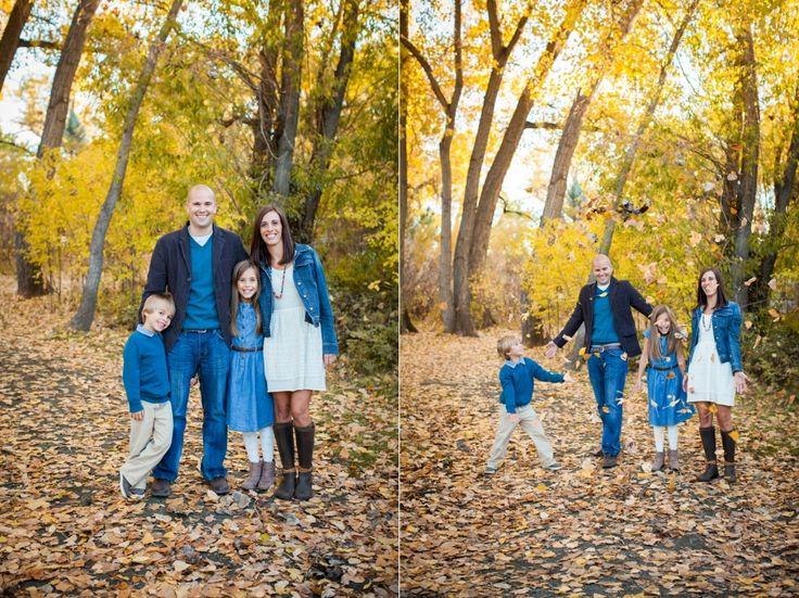 Fun Colorado Fall Family Photo. Natural family photos | Amy Caroline Photography