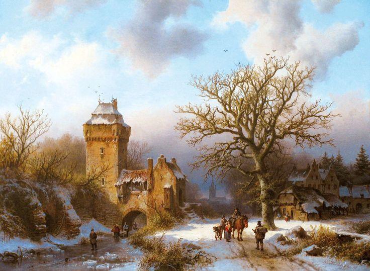 Barend Cornelis-Koekkoek-AWinterLandscapewithFiguresConversingonaSnowyPath-1322014T132343.jpg (2126×1559)