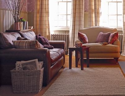 Laura Ashley Bradford Leather Sofa
