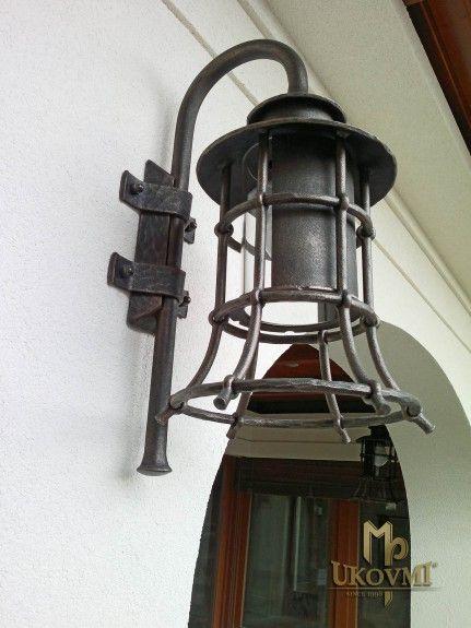 Handgeschmiedete Seitenlampe