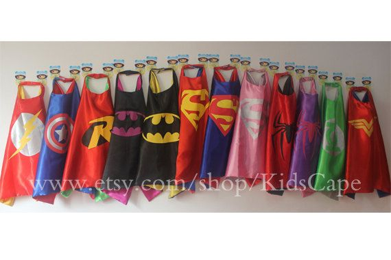 Superhero Cape - Superman, Captain America, Batman, Spiderman, Flash, Supergirl, Robin, Batgirl, incredibles,Thor,Hulk, Ironman kids capes