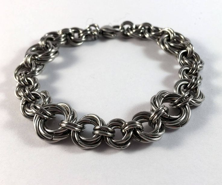 Mobius ring bracelet - Pretty, unusual chainmaille bracelet by TrinketFairyDesigns on Etsy