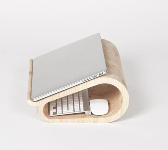 Vool is a wooden laptop stand brought to you by a member of Dopludo collective that will turn long working hours in front of a laptop into a pleasure.
