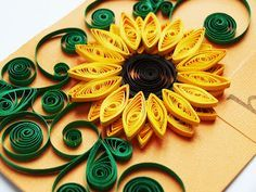 I love this sunflower.            paper quilling patterns free | love paper quilling! It's so much fun and the results are beautiful ...