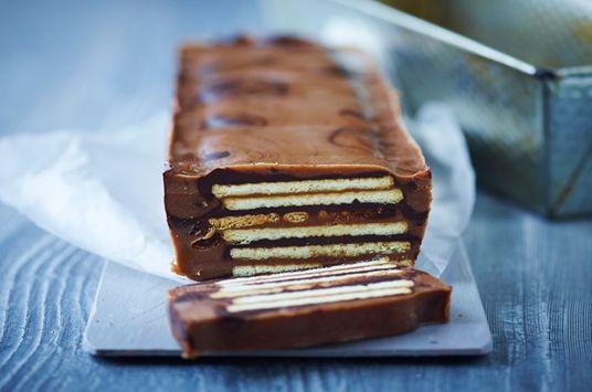 Kiksekage med chokolade og nougat