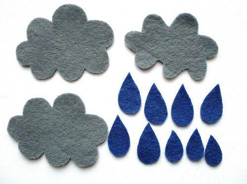 Rain: Cloudy Rainy, Brooches Tutorials, Free Templates, Raincloud Brooches, Diy Felt, Fish, Felt Things, Felt Fieltro, Felt Raincloud