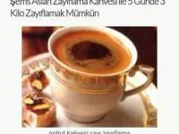 Şems Aslan Zayıflama Kahvesi ile 5 Günde 3 Kilo Zayıflamak Mümkün