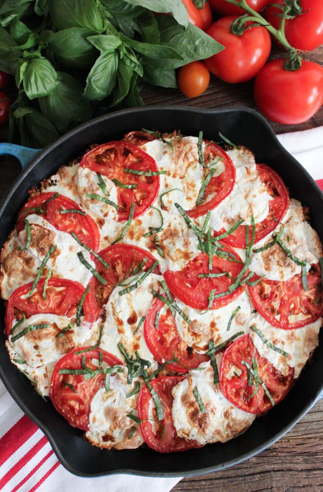 Caprese Quinoa Bake. A simple, healthy, and gorgeous meal or side that's bursting with fresh flavor. #SummerSoiree #vegetarian #glutenfree