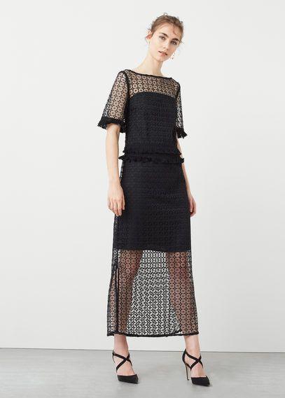 Open-work dress