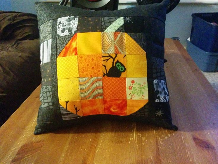 Patchwork Pumpkin Throw Pillow