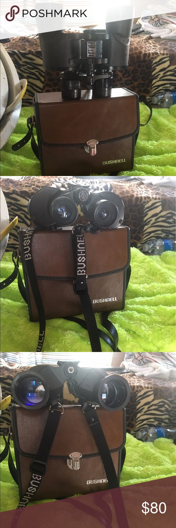 Bushnell binoculars with pouch Vintage Bushnell Insta-Focus Zoom Binoculars, 7-15 x 35.  300' @ 1000yds. Fully Coated.  With original case and in Excellent Condition.  Note no lens covers. bushnell Other