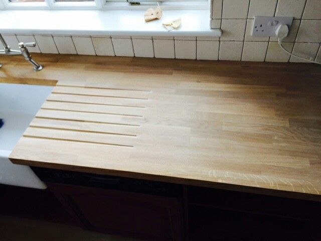 Belfast Sink with solid oak worktop