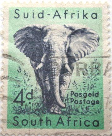 South African stamp before it became a Republic.