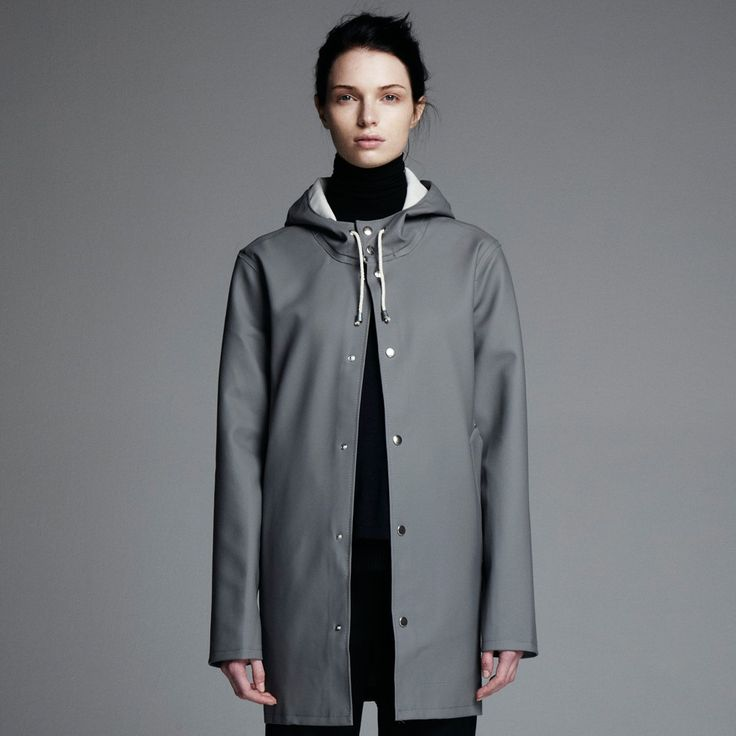 Stockholm Grå - Grey Raincoat – Stutterheim Raincoats: