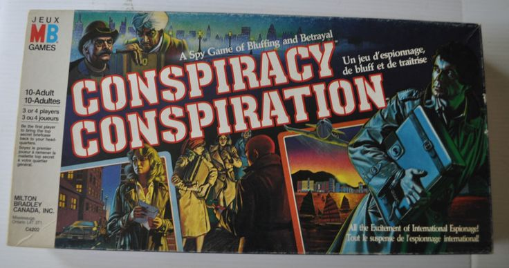CONSPIRACY Spy Board Game MILTON BRADLEY 1983 | eBay