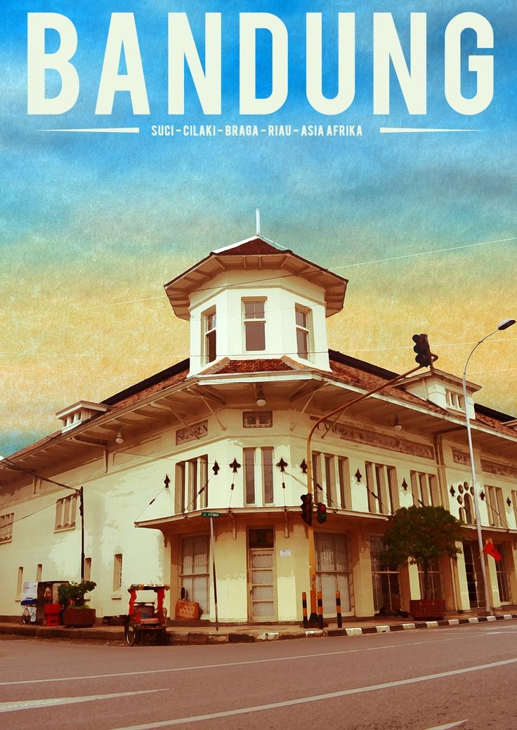 Bandung retro poster
