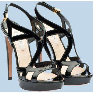 Kode : AWF-358, Nama : Heels Selop Black Glossy Red Ribbon, Price : IDR 175