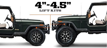 "Jeep YJ Lift Kits 4"" - 4.5"" (1987-1995 Wrangler)"