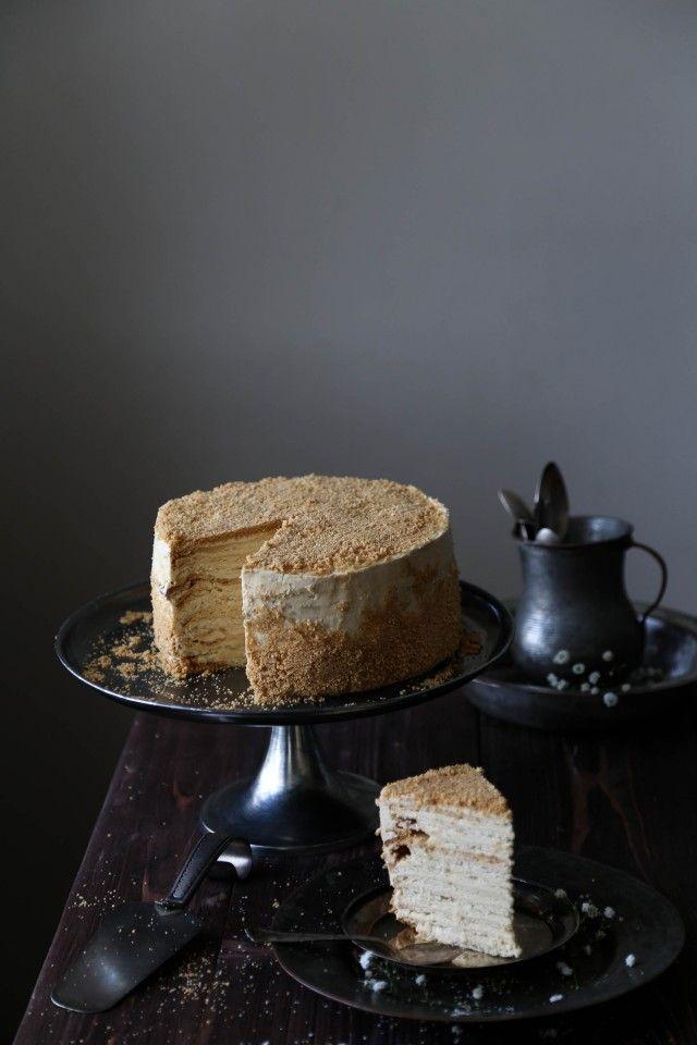 Caramel Napoleon Crepe Cake