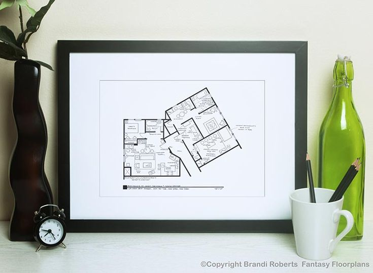 Seinfeld Apartment Floor Plan (with Kramer) (With images ...
